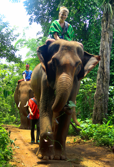 Amy Howard at Patara Elephant Farm in Thailand