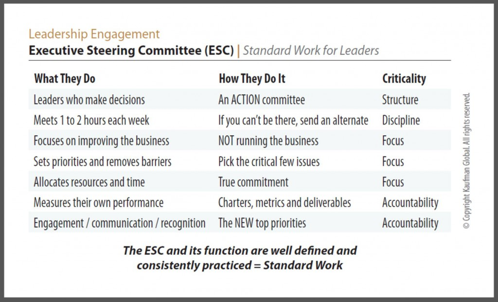 Executive Steering Committee Side 1